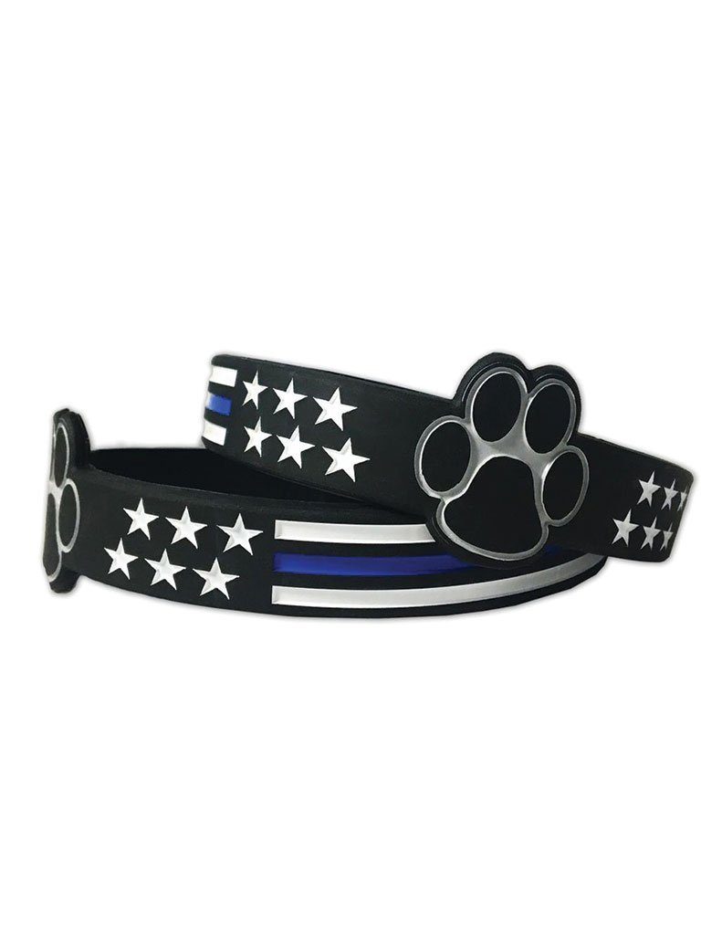 thin bracelet law line htm enforcement paracord blue